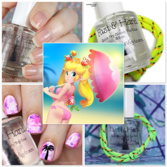 'Peach Beach' - PPU Flashback Scented 'Fast & Hard' Quick Dry Glossy Top Coat