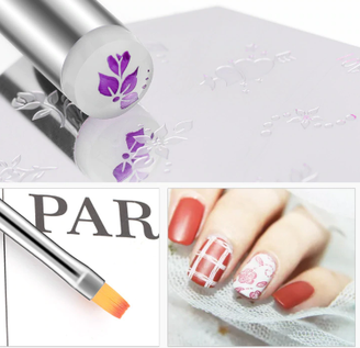 Double End Nail Brush & Stamper