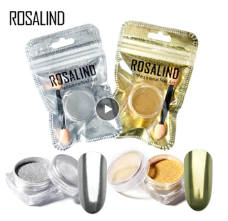 Rosalind Silver & Gold Chrome Effect Nail Powder