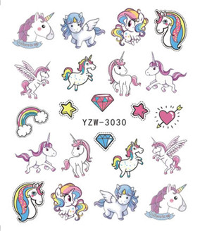 Water Slide Decals - Unicorn YZW-3030