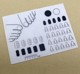 Silicone Nail Art Mats w/ Toes
