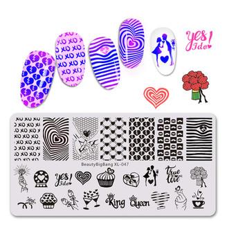 Stamping Plate - BeautyBigBang XL - 047