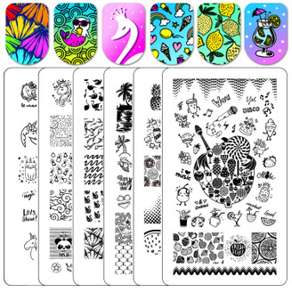 Ejiubas Double Sided Stamping Plate Set