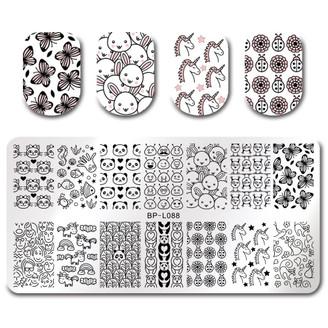 Rectangle Stamping Plate - Born Pretty L088