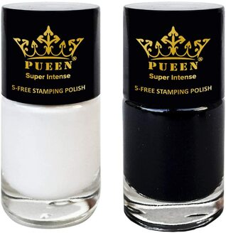 Pueen Black & White Stamping Polish