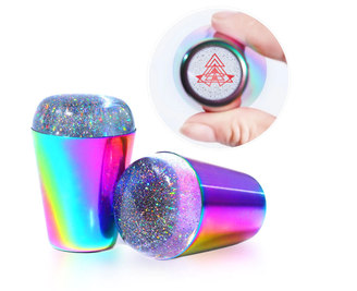Multichrome Galaxy Glitter Clear Jelly Stampers