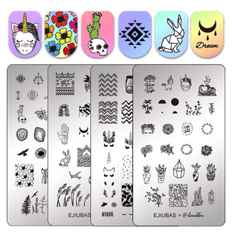 Stamping Plates - Ejiubas - 2 Double Sided Plates