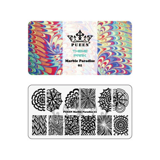 Stamping Plate - Pueen Marble Paradise 01