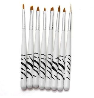 6pc. Zebra Nail Brush Set