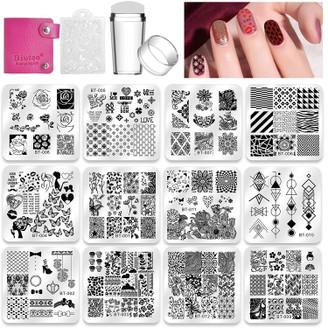 Biutee Stamping Set w/ Plates, Stamper, Scraper, & Storage