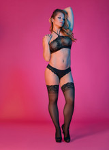 Sexy Time Halter Bandeau and Panty Set - Black