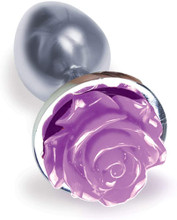 Copy of The 9's the Silver Starter Rose Floral Stainless Steel Plug - Rose - Purple