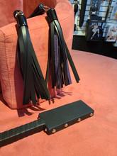 "12"" Leather Paddle - Black"