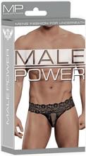 Male Power Scandal Lace Pinch Back Micro Thong