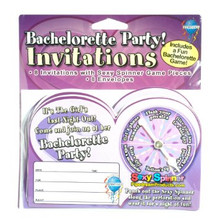 Bachelorette Spinner Invitations