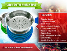 APPLE ON TOP HOOKAH BOWL
