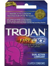 Trojan Fire and Ice Condoms 3 Pack