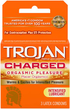Trojan Intensified Charged Orgasmic 3pk