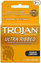 Trojan Ultra Ribbed 3pk