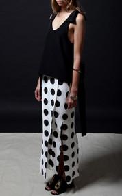 Dufresney Skirt - Black Dot