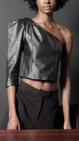 Galen Top - Black Leather