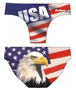 DELFINA MALE USA EAGLE WATER POLO SUIT