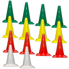 S&R SPORT FIELD OF PLAY CONE MARKERS, SET OF 14 (OPTION 2)