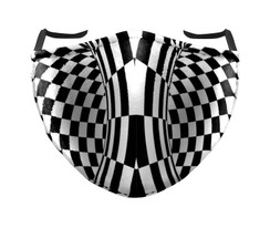 IN STOCK, READY TO SHIP- REUSABLE FACE COVER - CHECKERS