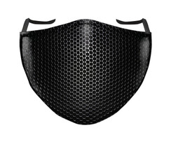 IN STOCK, READY TO SHIP - REUSABLE FACE COVER - BLACK/WHITE SHADOW