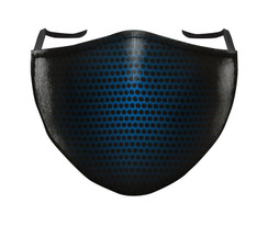IN STOCK, READY TO SHIP - REUSABLE FACE COVER - BLACK/BLUE SHADOW