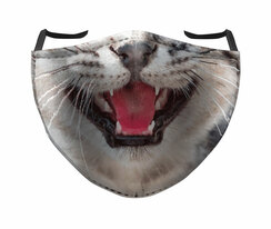 IN STOCK, READY TO SHIP - REUSABLE FACE COVER - KITTY