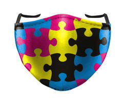 IN STOCK, READY TO SHIP - REUSABLE FACE COVER - PUZZLE