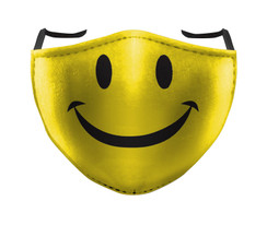 IN STOCK, READY TO SHIP - REUSABLE FACE COVER - SMILEY