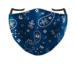 IN STOCK, READY TO SHIP - REUSABLE FACE COVER - BANDANA NAVY