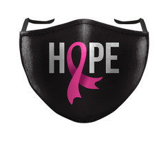 IN STOCK, READY TO SHIP - REUSABLE FACE COVER - BREAST CANCER HOPE