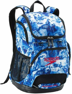 SPEEDO PRINTED TEAMSTER BACKPACK (35L) - BLUE/WHITE