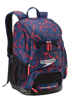SPEEDO PRINTED TEAMSTER BACKPACK (35L) - RED/WHITE/BLUE