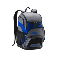 SPEEDO PRINTED TEAMSTER BACKPACK (35L) - GREY/BLUE