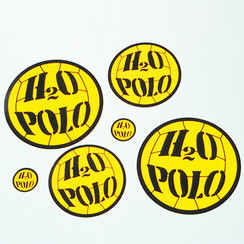"1"" H20 POLO STICKER"
