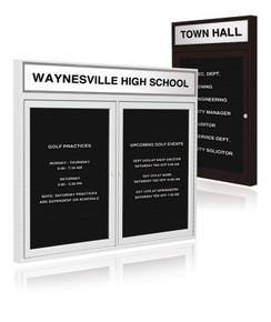 """S & R SPORT RECORD BOARD WITH 2 DOORS, 48"""" X 60"""""""