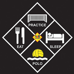 EAT, PRACTICE, SLEEP, POLO STICKER