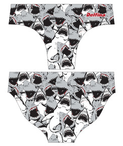 DELFINA MALE SHARKNADO WATER POLO SUIT