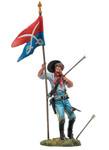 Black Hawk 102 - Custer's Last Stand, U.S. Standard Bearer 7th Cavalry Painted Metal Toy Soldier 1/32 Scale