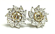 Monique Creations, NYC -  Sunrise Earclips 13ct Yellow Diamonds ($37,000)
