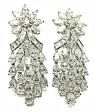 Monique - Starburst Timeless White Diamond Drop Earrings set in 18KGold