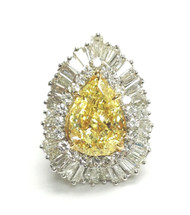 Monique - Sole Ring with Yellow Diamond (price upon Request)