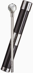 Philip Stein -  Small Wine Wand , Authentic Black Carbon Fiber