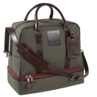 The Pro Rider Belmont bag - Olive with Burgundy Leather trim