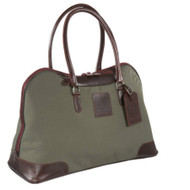 Red Scarf - ProRider City Tote (Olive with Burgundy Leather)