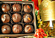 CONFECTIONALLY YOURS - all natural organic non GMO ganache filled truffles (9 pieces)
